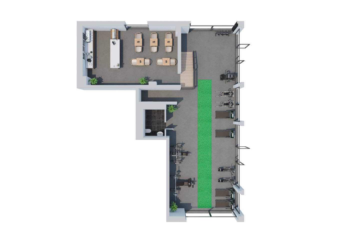 3 D Floor Plan Fitness