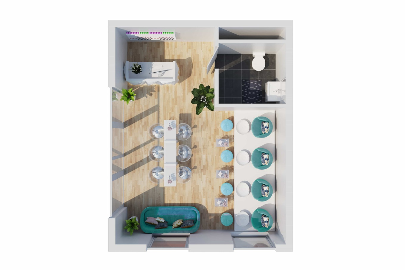 3 D floor plan Salon