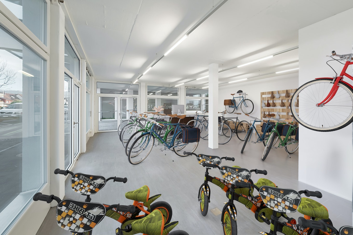 3d staging interior bicycles boutique