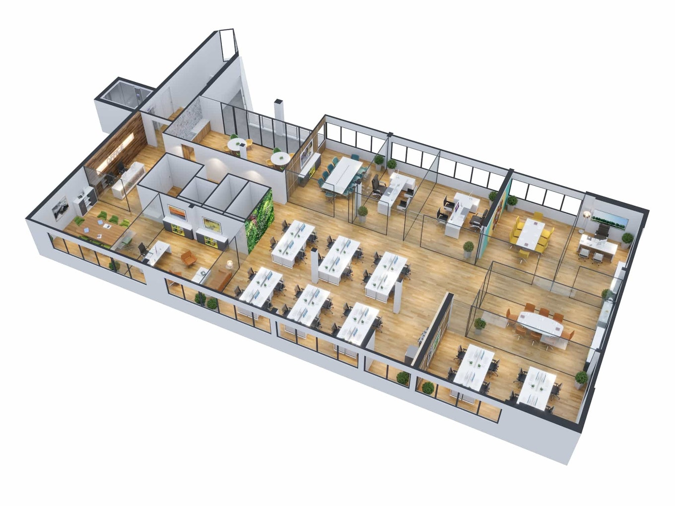 Floor Plan 3 D Office