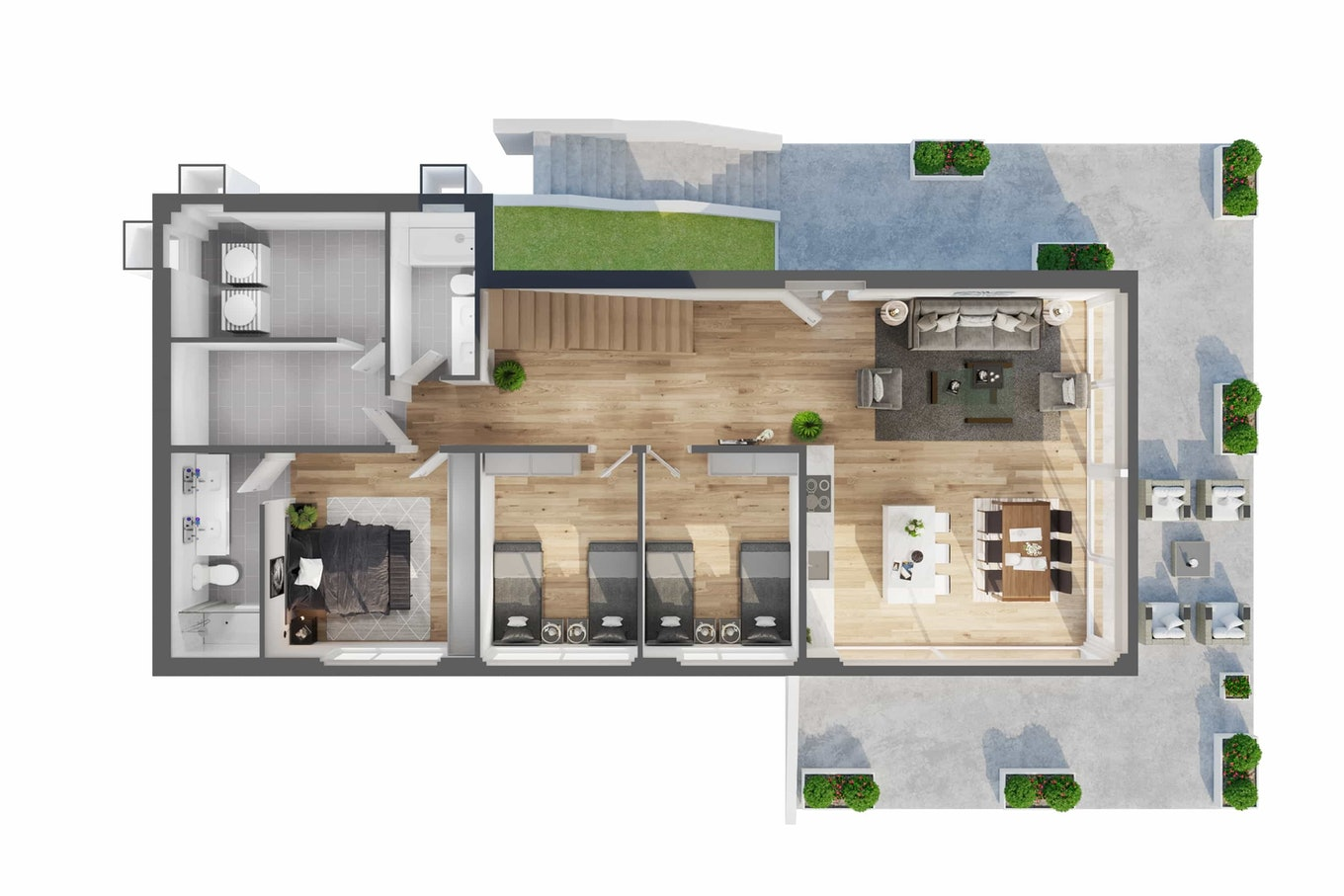 Floor Plan 3 D house 3