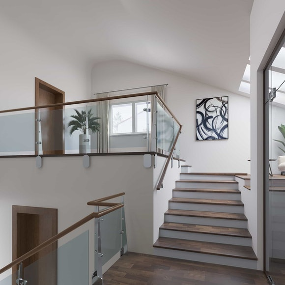 Real Estate 3 D Staging Stairs after