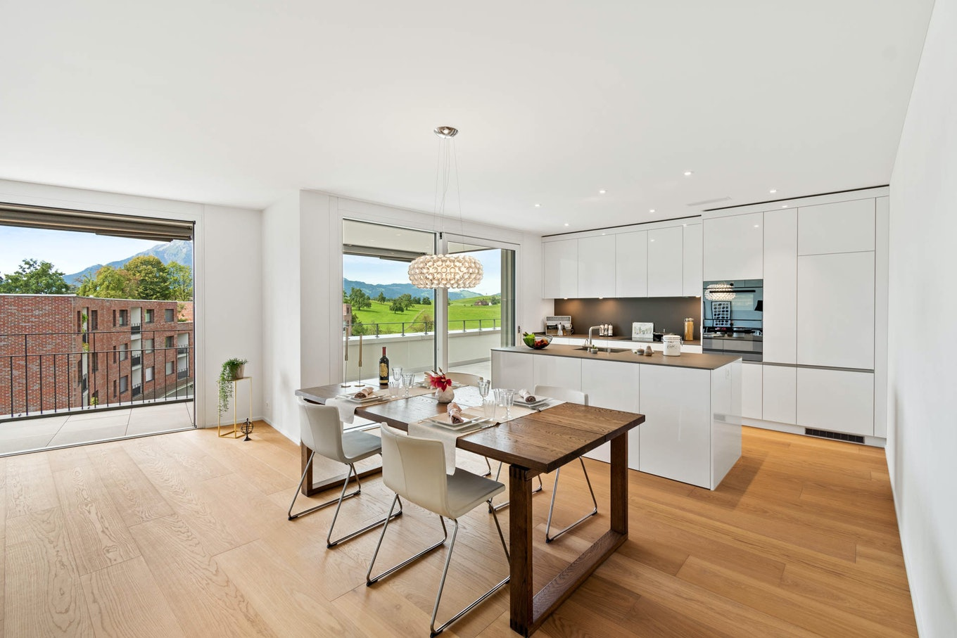 Real Estate Kitchen with Table