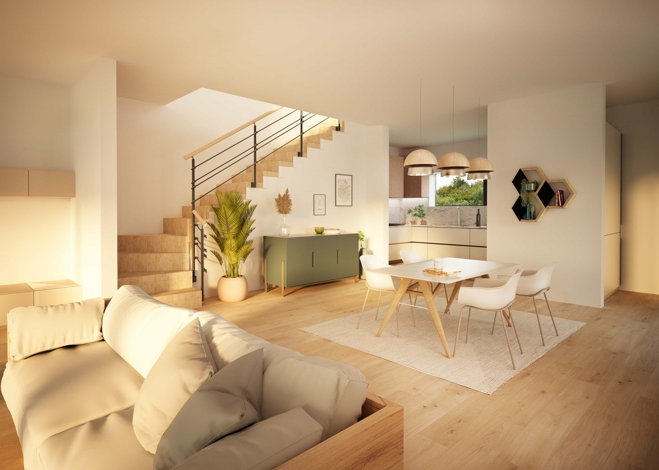 Real Estate Rendering Appartment Inside