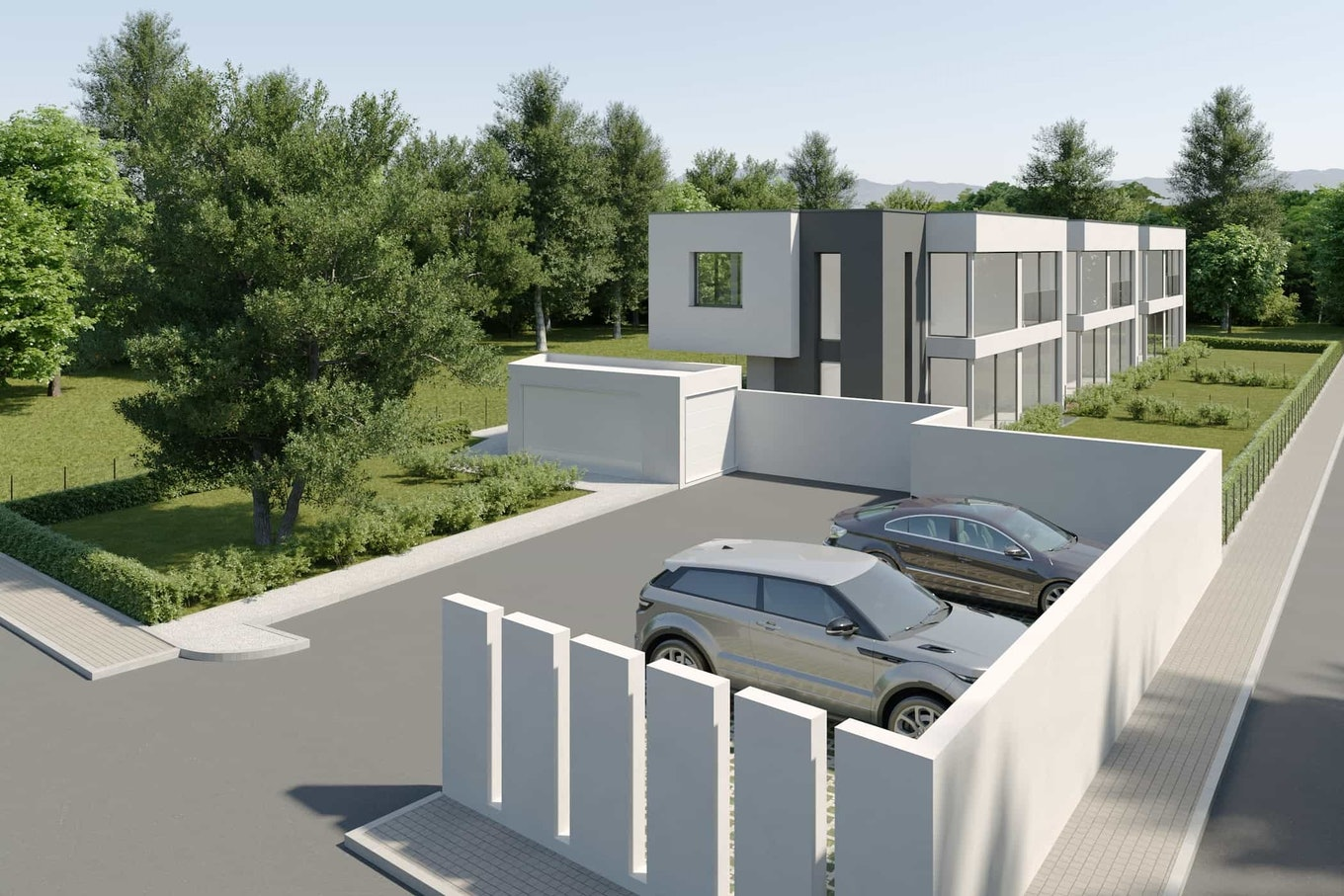Real Estate Rendering Parking